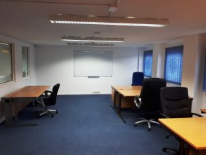 Office furnished for 8 people